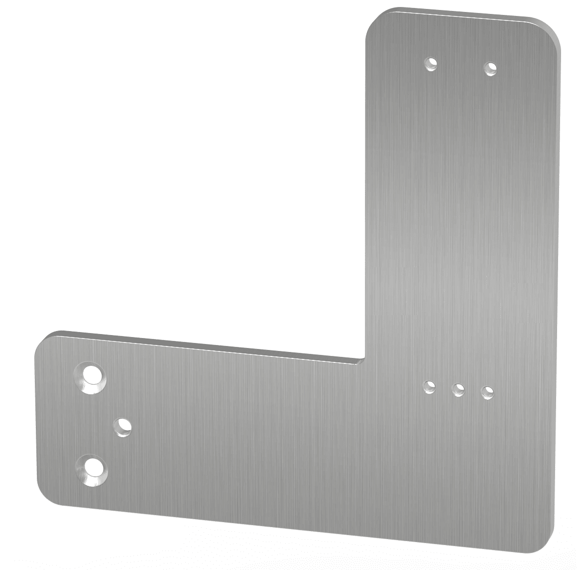 Montageplatte für Rohrrahmentüre