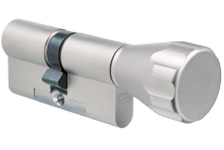 EVVA ICS Knaufzylinder mit 3 Schlüssel