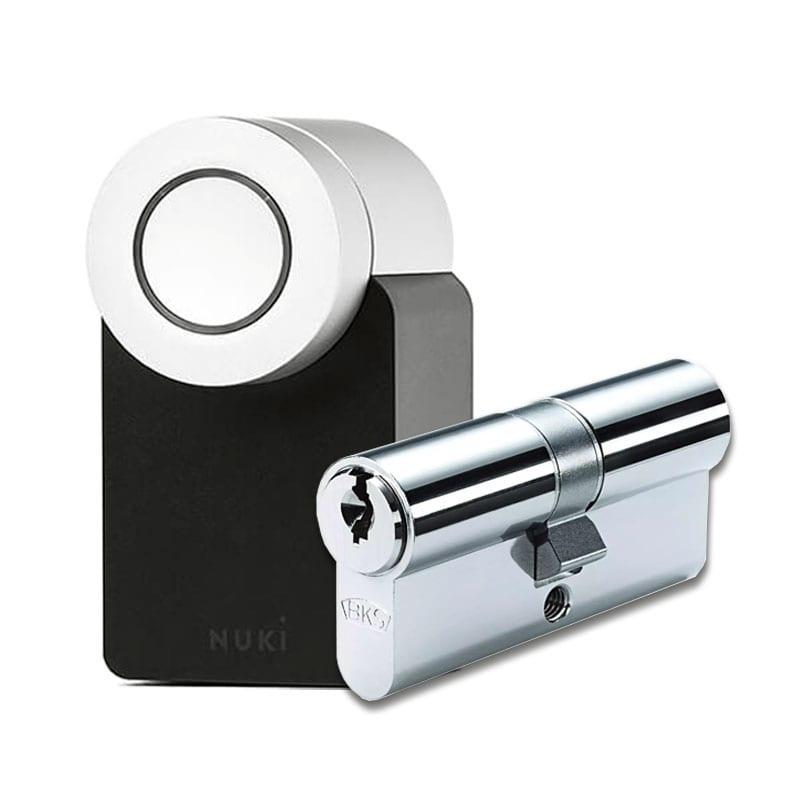 NUKI Smart Lock 2.0 mit BKS Livius Doppelzylinder mit 3 Schlüssel