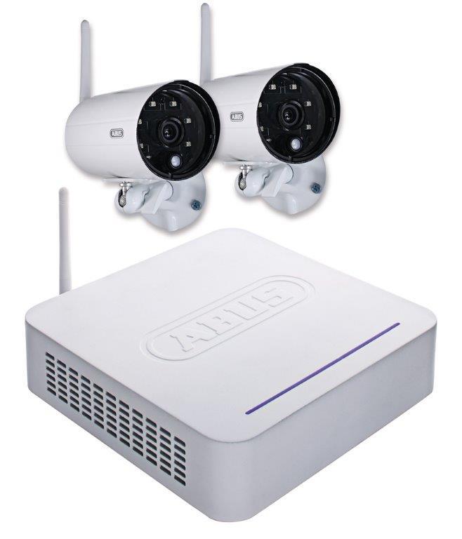 ABUS Funk-Überwachungsset mit Rekorder und 2 Außenkameras TVAC18000A