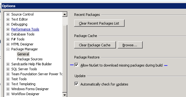 NuGet package restore fail TFS Build Server