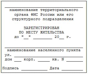 Порядок регистрации иностранных граждан по месту пребывания