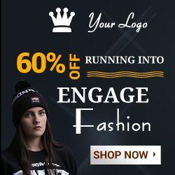fashoin banner black for google ads