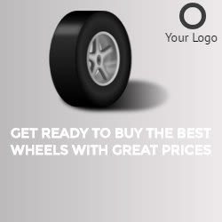 wheel banner for tyre company