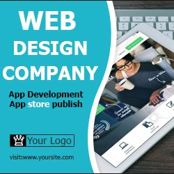 web company ad banner for free download