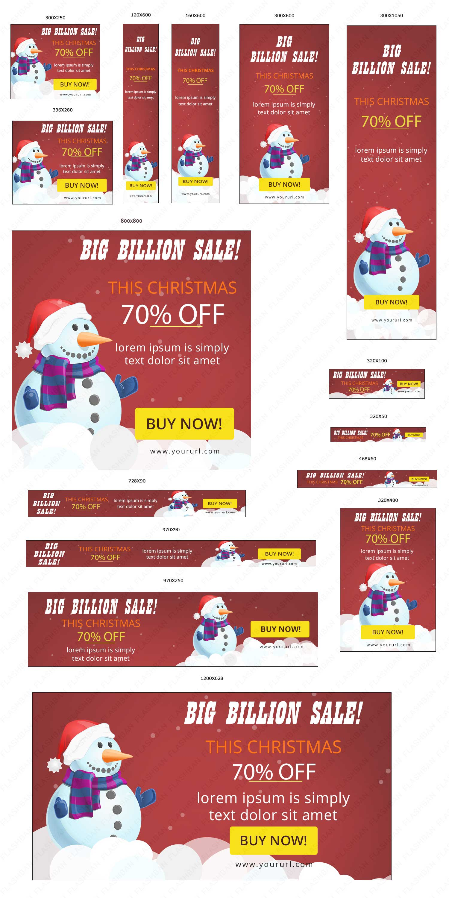 Ad Banner for Christmas Sale