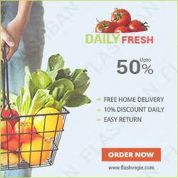 Vegetables 2 Ad Banner