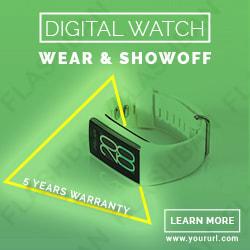 DIgital Watch Ad Banner