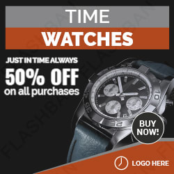Watch Ad Banner in 15 different sizes