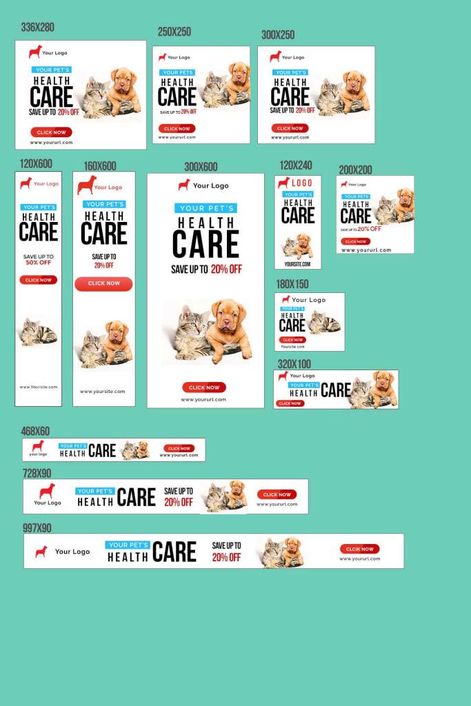 pet sho banner for google , facebook , instagram