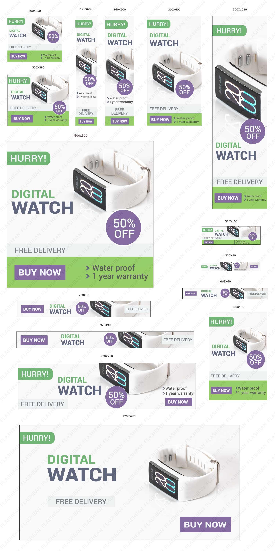 Digital Watch Ad banners