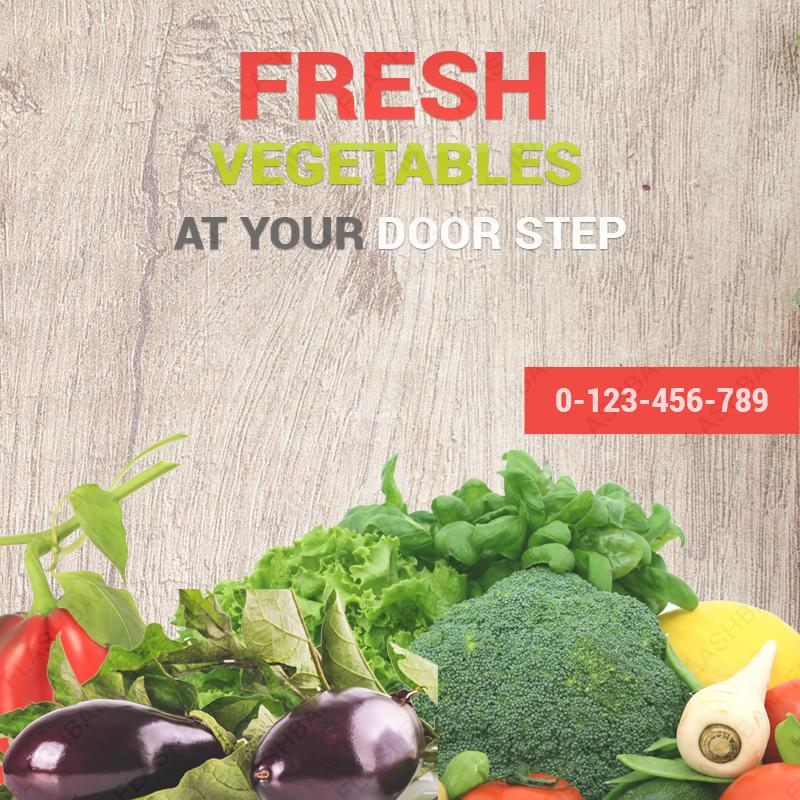 Vegetables Ad Banner