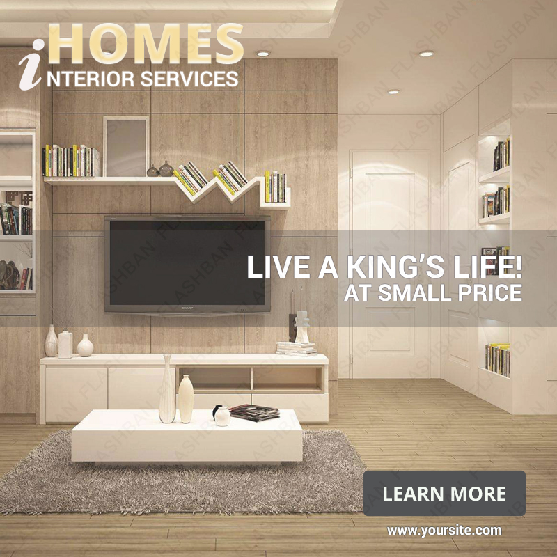 Interior Design Services 3 Ad Banner