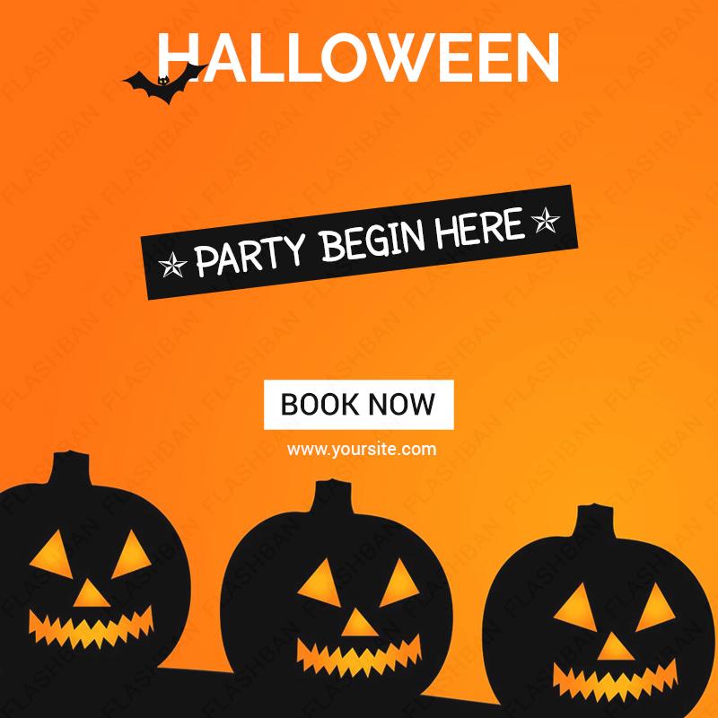 Halloween Sales Ad Banner