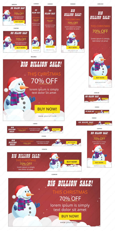 Ad Banner for Christmas Sale