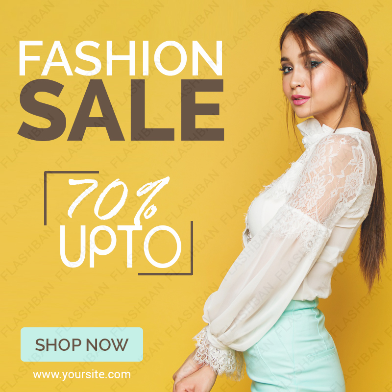 Ad Banner for Fashion