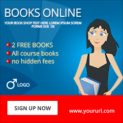 Online Books Selling Ad Banner