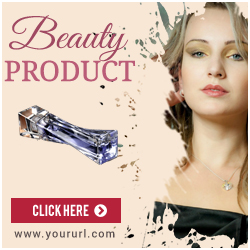 Beauty Products Ad Banner