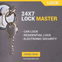 Locksmith Ad Banner