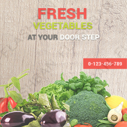 Vegetables Ad Banner
