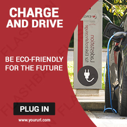 Car Charging Ad Banner