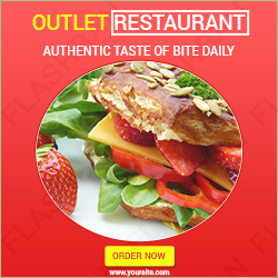 Ad banner for Restaurant Outlet