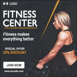Fitness Center Ad Banner