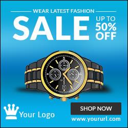 Watch HTML5 Sale Ad Banner