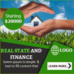 Real State and Finance Ad Banner