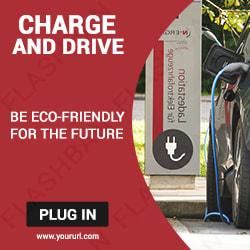 Car Charging Ad Banner