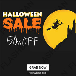 Halloween Sale ad banner
