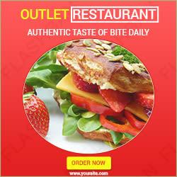 Ad banner for Restaurant Outlet