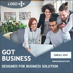 Banner Ad for business type