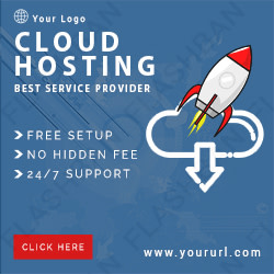 Cloud Hosting AD Banner Design