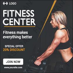 Fitness Center Ad Banner