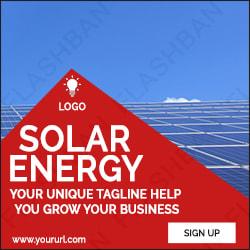 Solar Energy Ad Banner