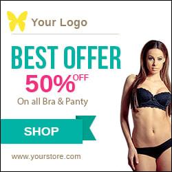inner garments ad banner