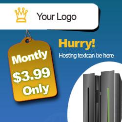 Free hosting ad banner for download