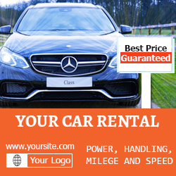 Car ad banner for free download