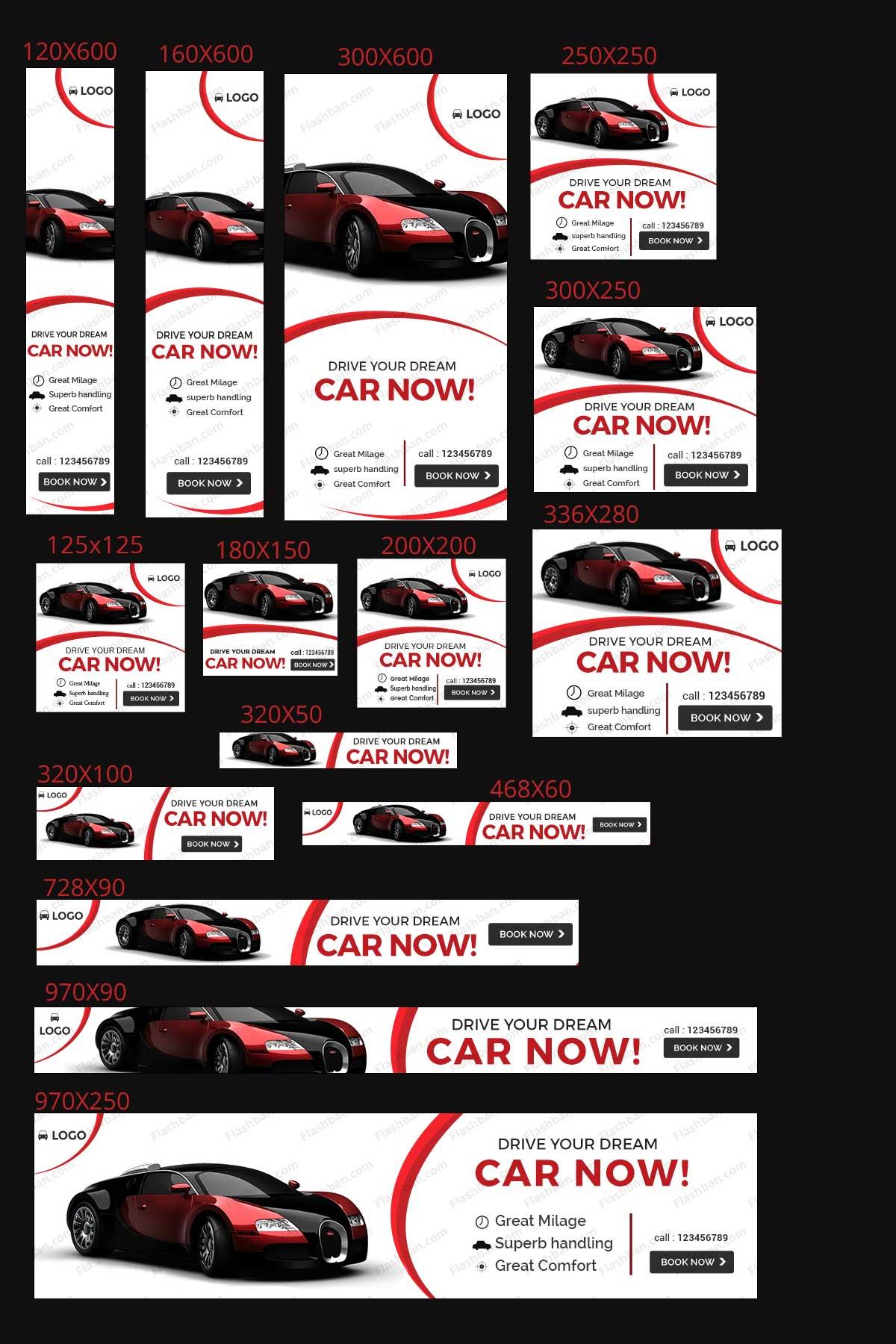 car banner for google ads