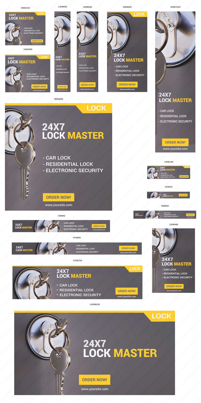 Locksmith Services Ad banner