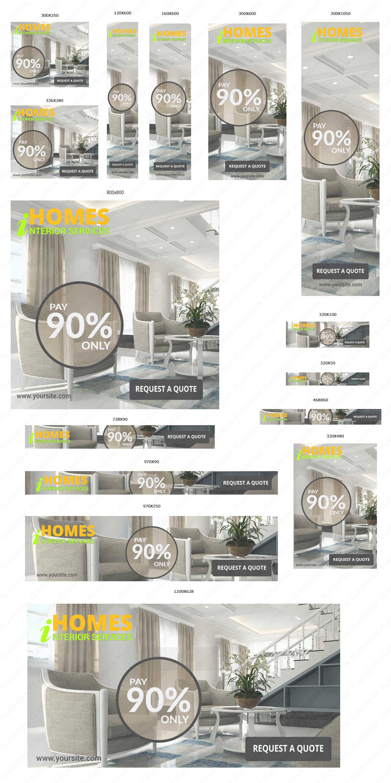 Interior Design Services 2 Ad Banner