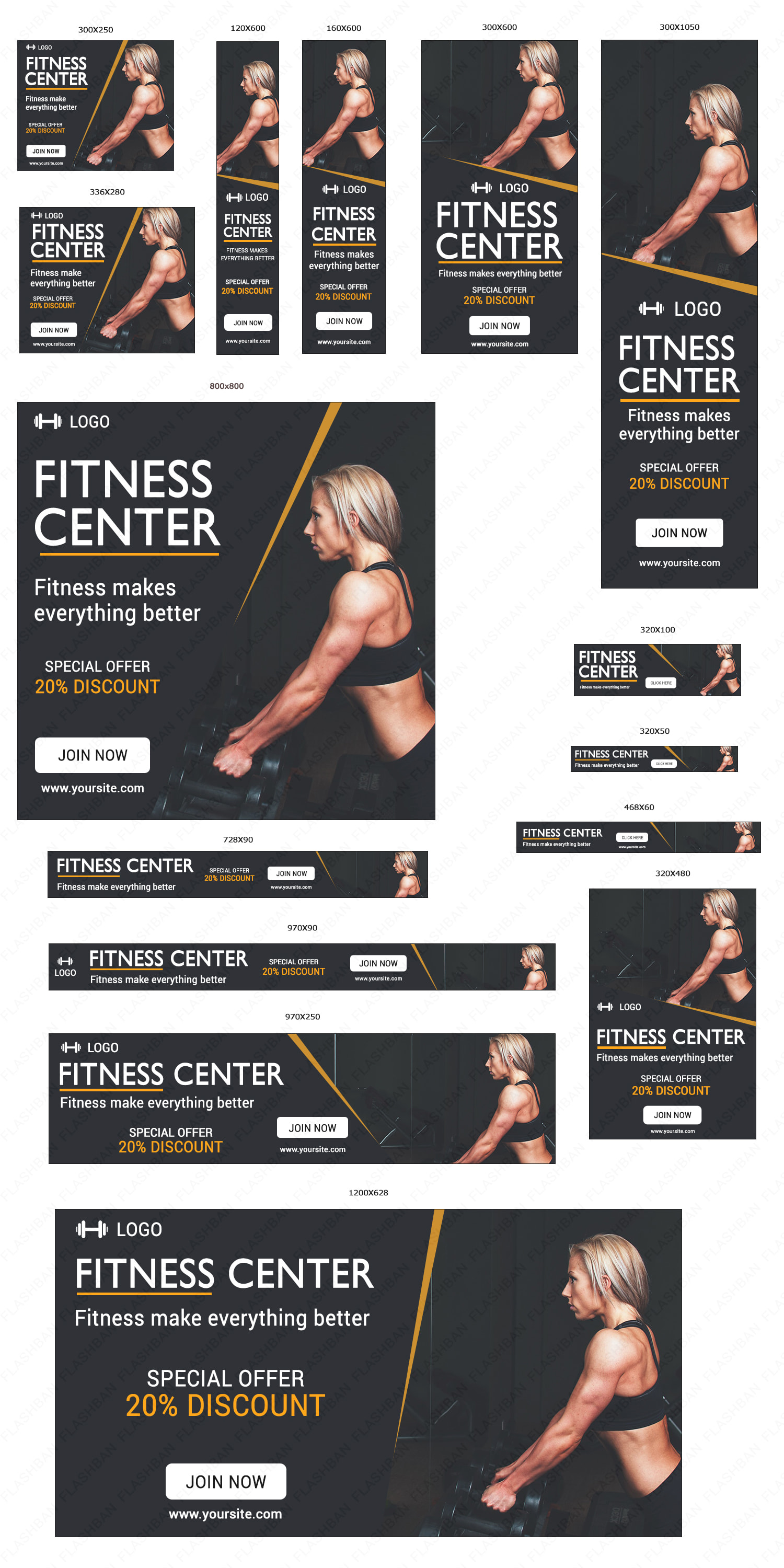 Fitness cente Ad Banner