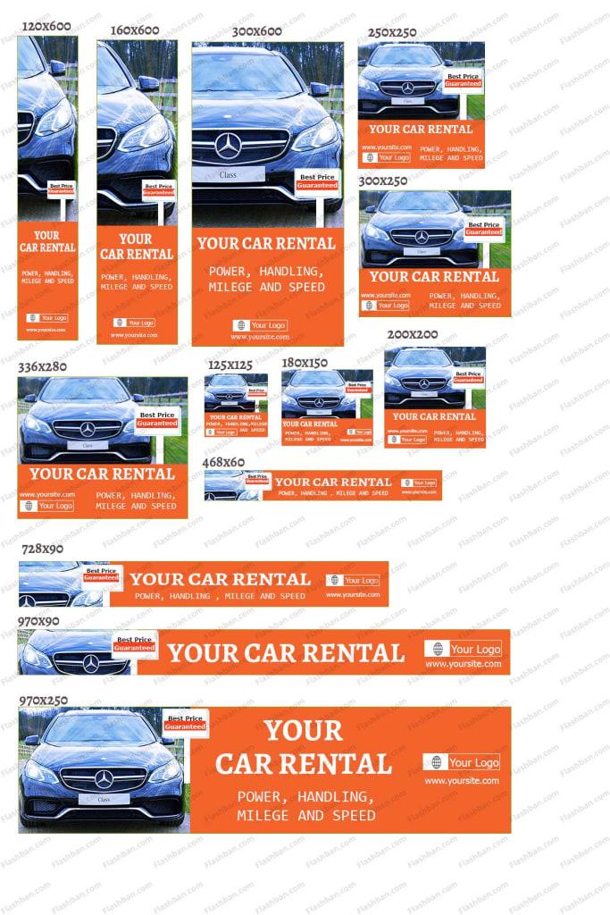 car rental ad banner