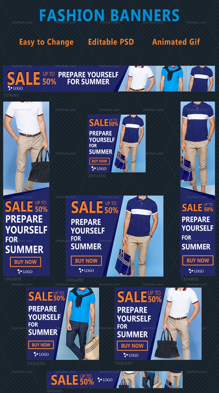 sale banner for male clothing