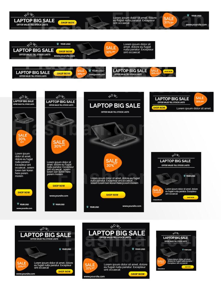 Multipurpose sale banner