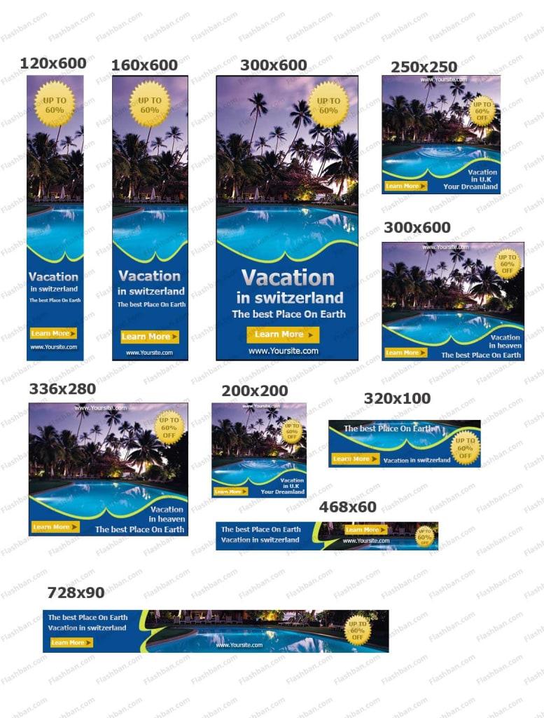 travel banner for google ads