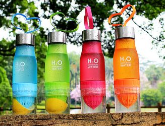 Gambar Botol Infused Water / H2O Infused Water Bottle Citrus Buah Fruit Juice