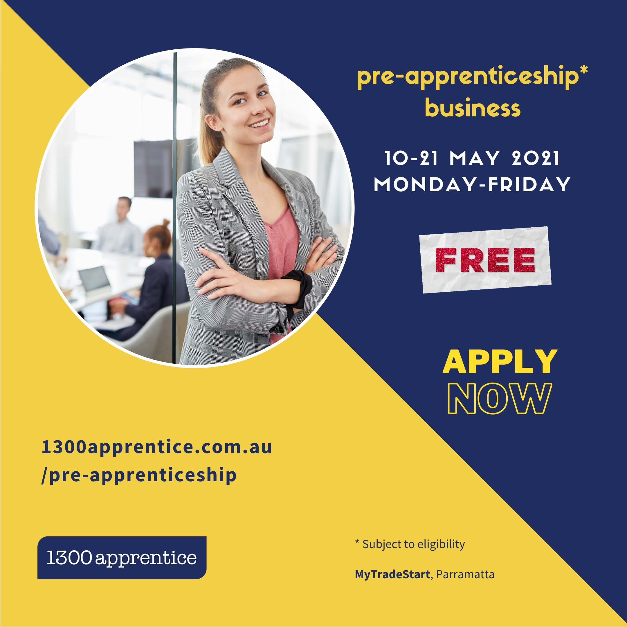 pre-apprenticeship business 2021