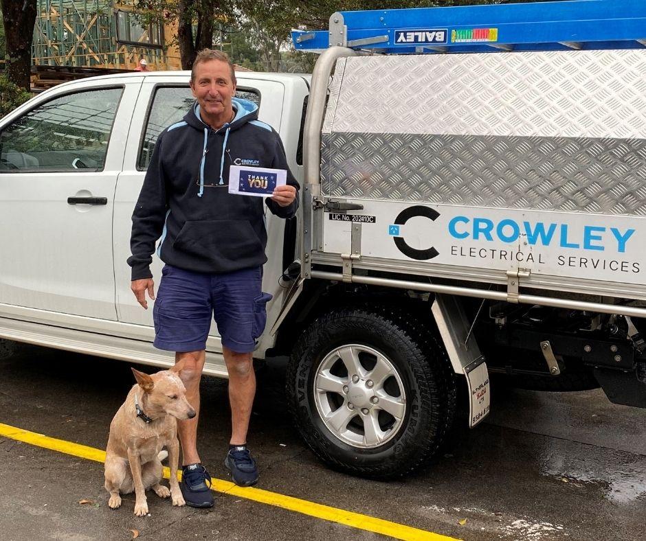 Tom Crowley electrical referral thankyou
